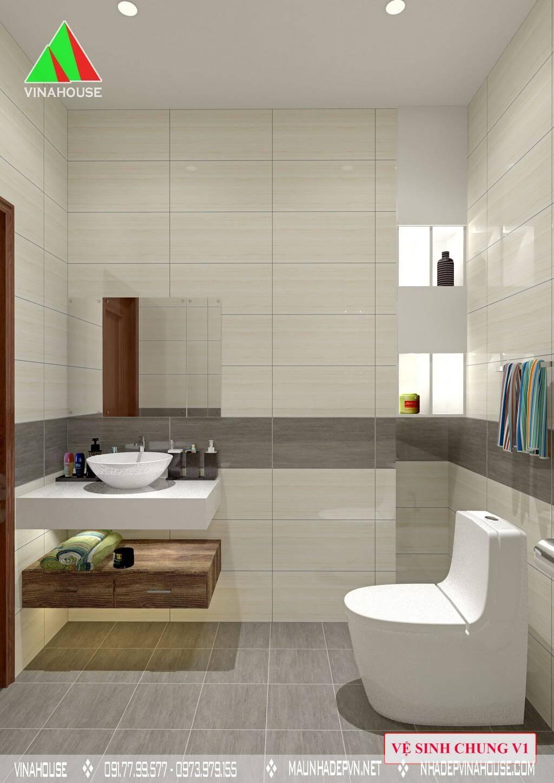 Phòng vệ sinh chung tầng trệt