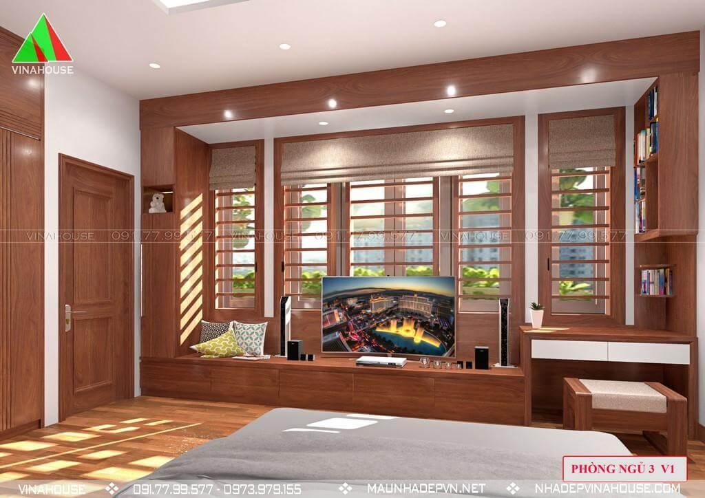 Phòng ngủ 3 thoáng hiện đại