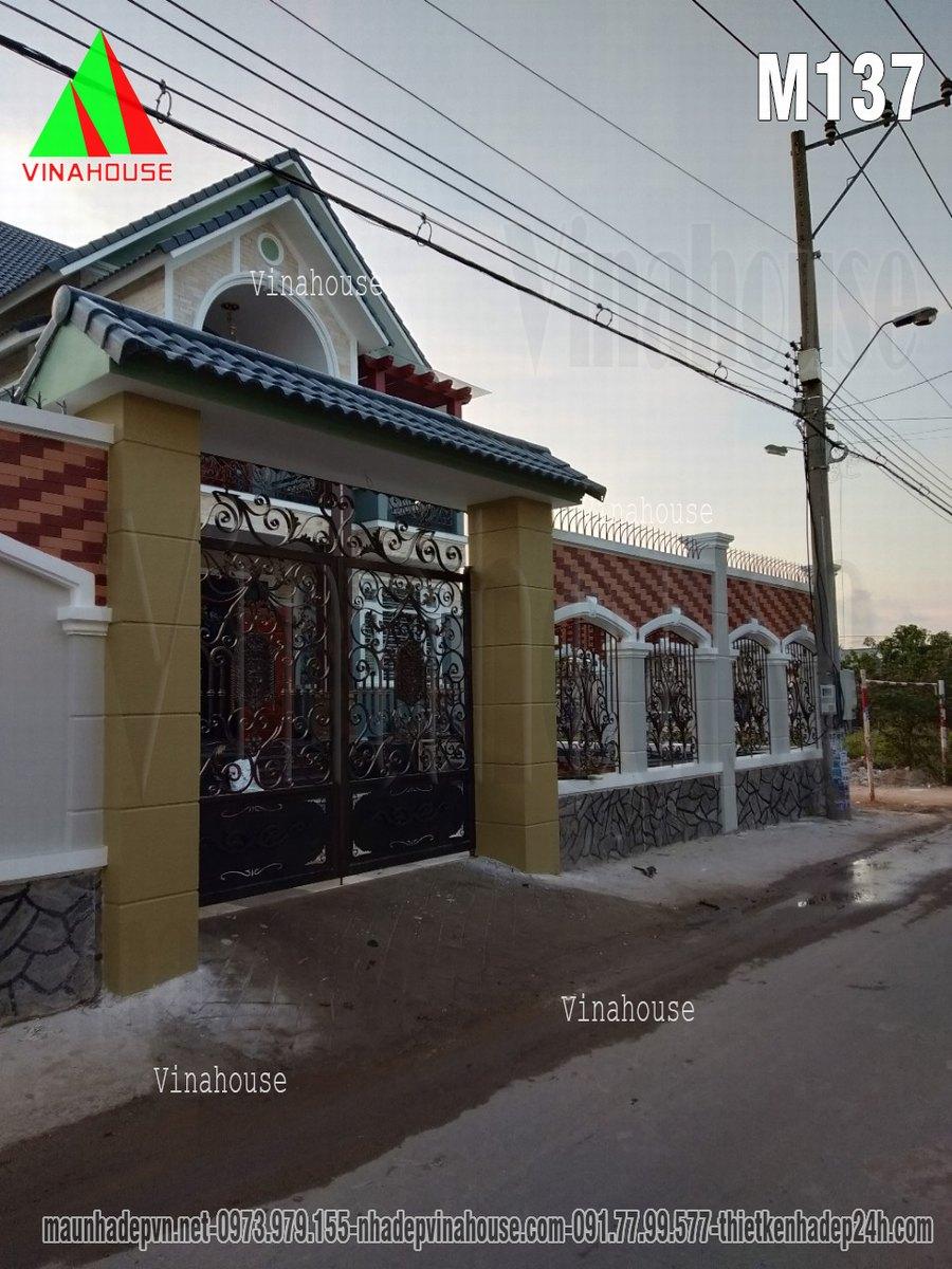 Cổng hàng rào biệt thự đẹp