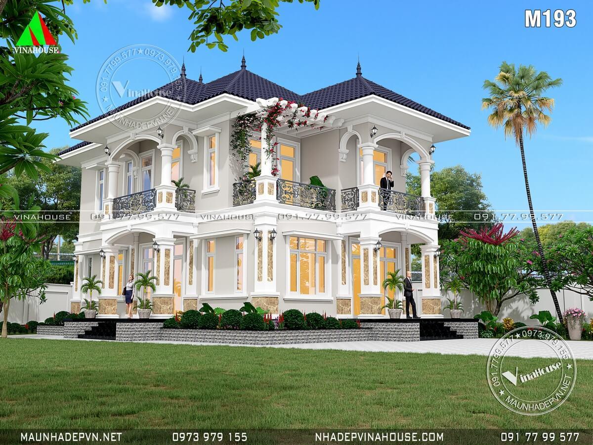 Biệt thự đẹp 2 tầng mái thái ở Củ Chi M193