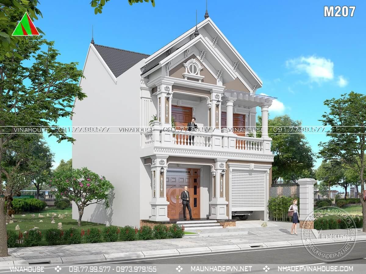 Biệt thự phố 2 tầng 1 mặt tiền tân cổ điển
