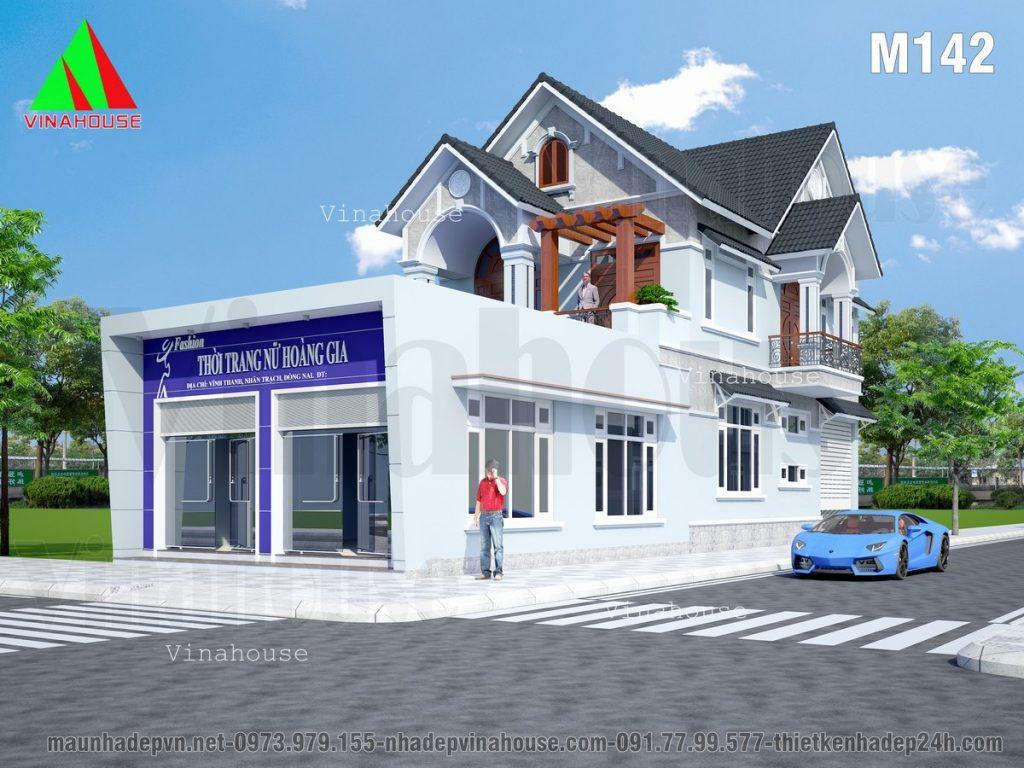 biệt thự 2 tầng mái thái 2 mặt tiền kết hợp kinh doanh