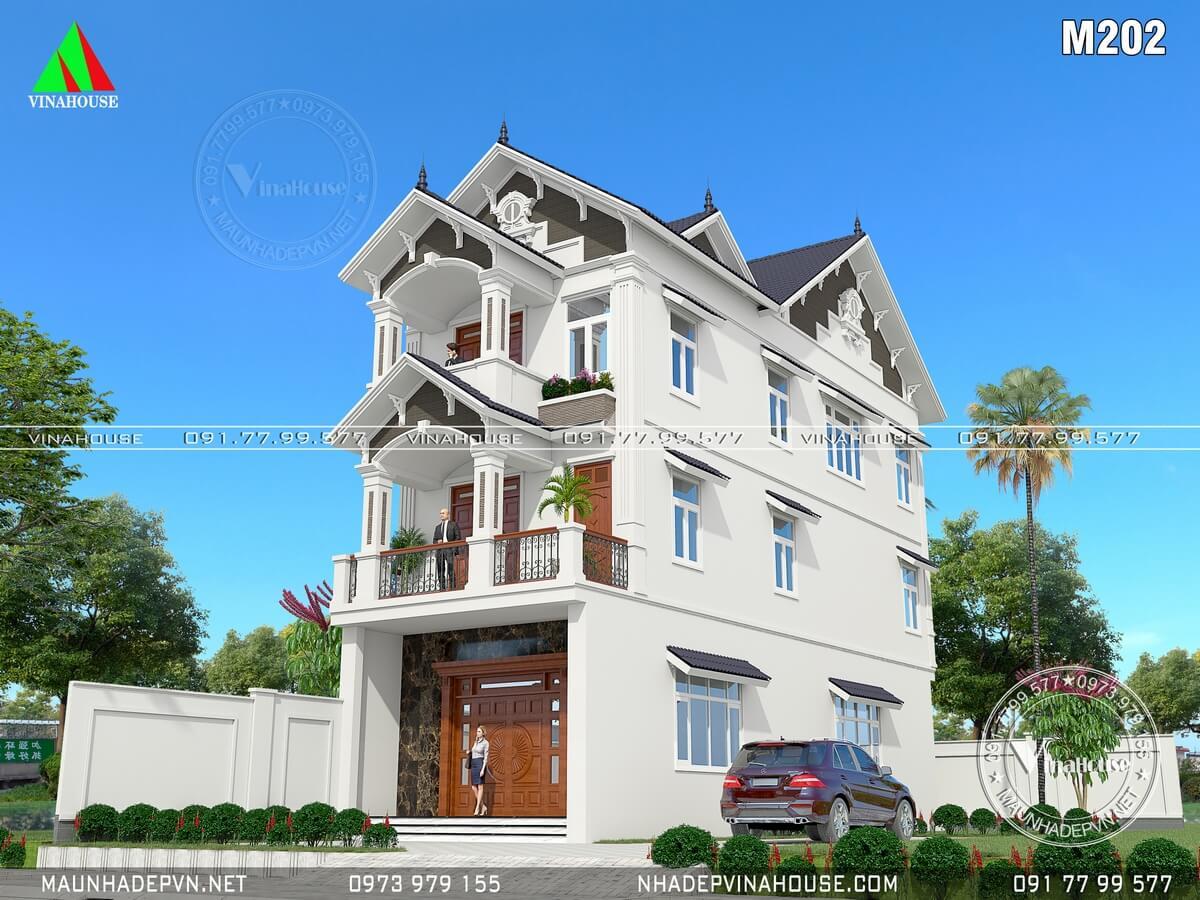 Thiết kế Biệt thự 3 tầng mái thái 6x18 ở Biên Hòa