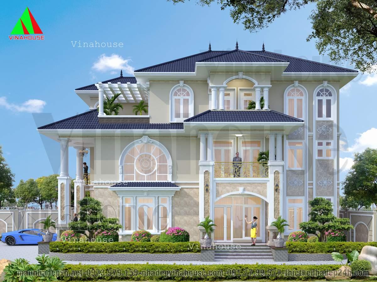 Biệt thự tân cổ điển châu âu đẹp ở Cam Ranh
