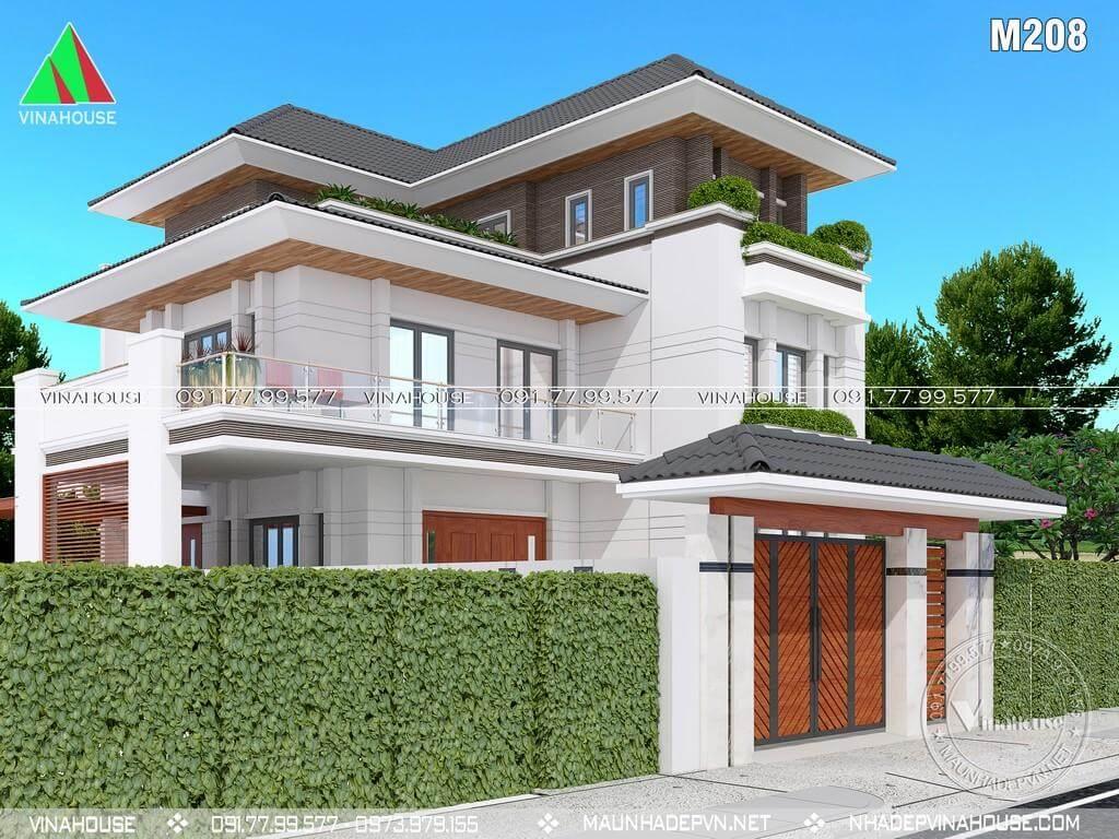 Thiết kế biệt thự phố 3 tầng đẹp ở TP Vinh