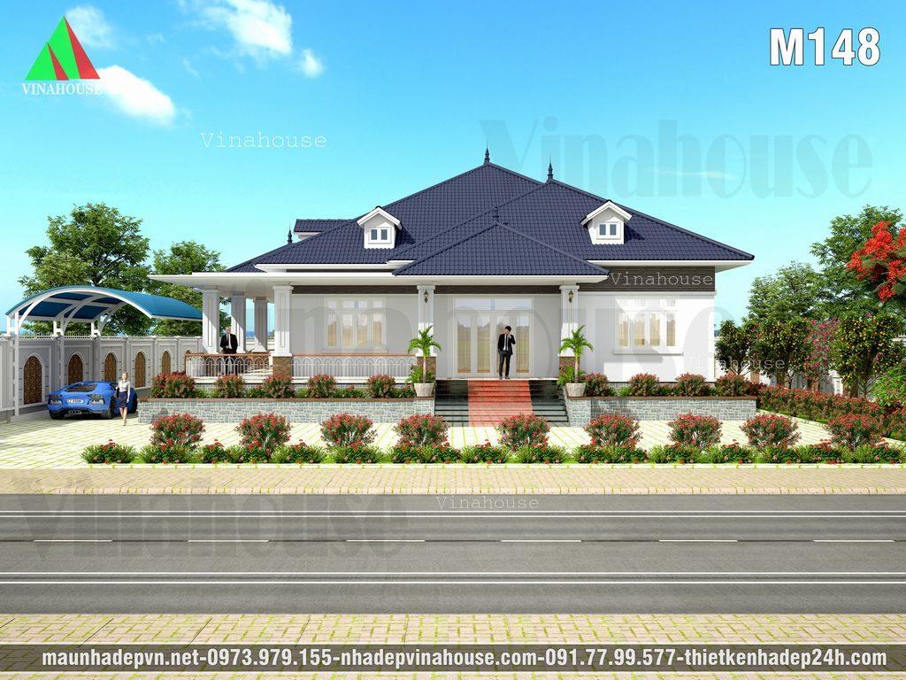Biệt thự vườn mái thái 4 phòng ngủ ở Hải Dương
