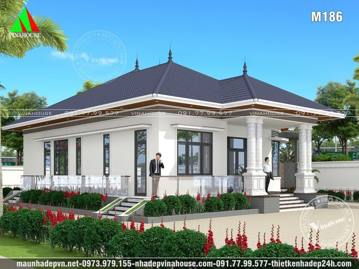 Nhà vườn mái thái đẹp ở Bình Dương M186