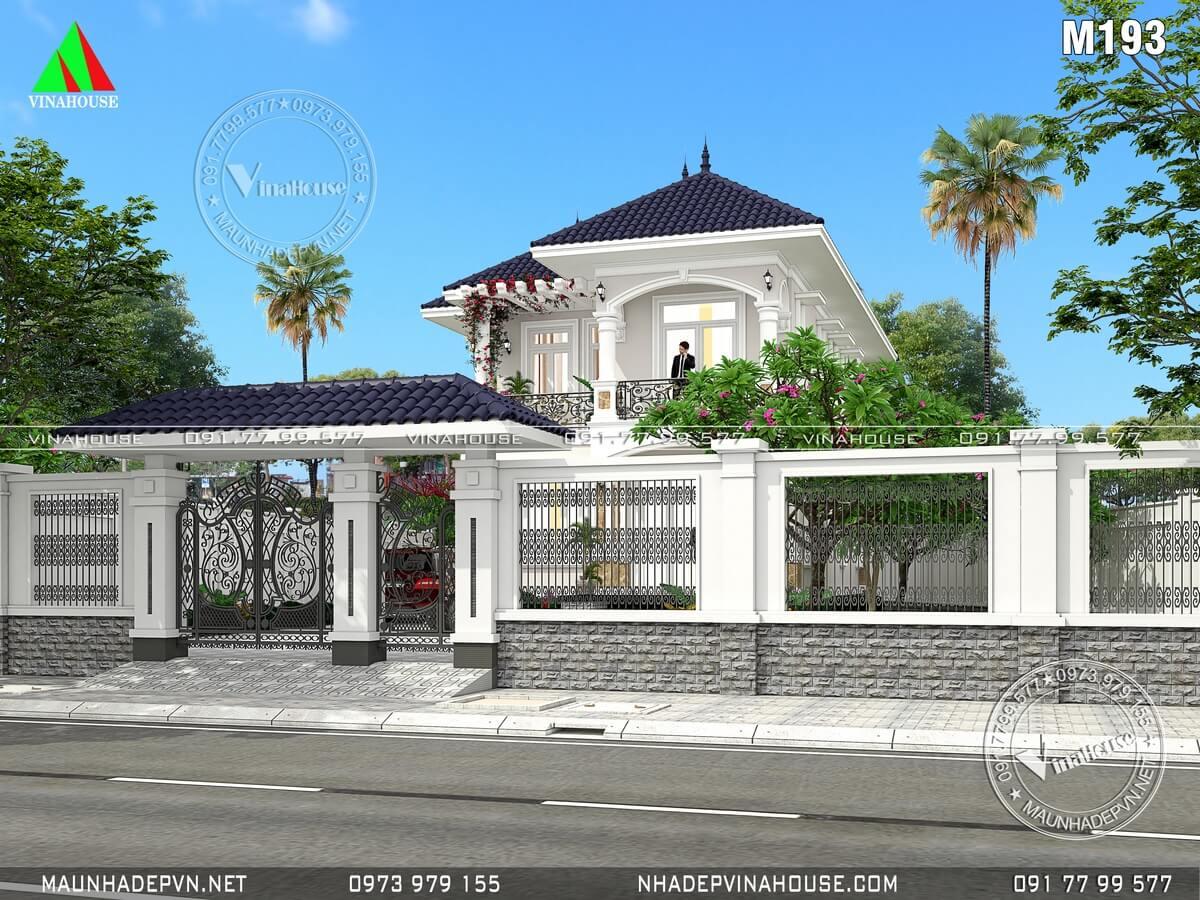 Sân cổng hàng rào biệt thự vườn đẹp