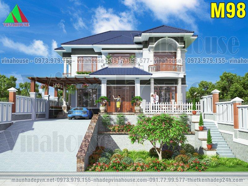 Biệt thự đẹp 2 tầng đẳng cấp của gia đình anh Chi ở Yên Thành Nghệ An