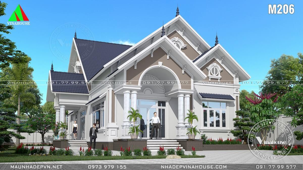 Biệt thự vườn tân cổ điển mái thái 4 phòng ngủ ở Đồng Nai