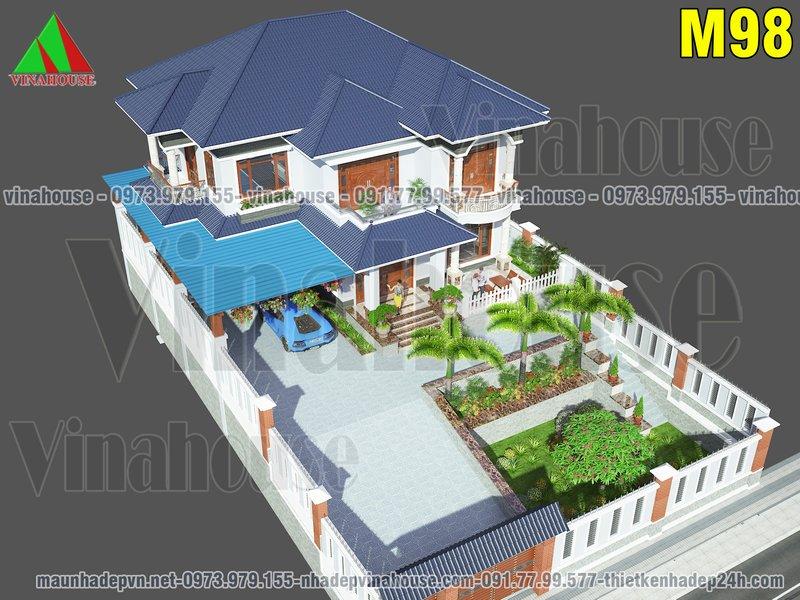 Biệt thự vườn 2 tầng đẹp ở Nghệ An