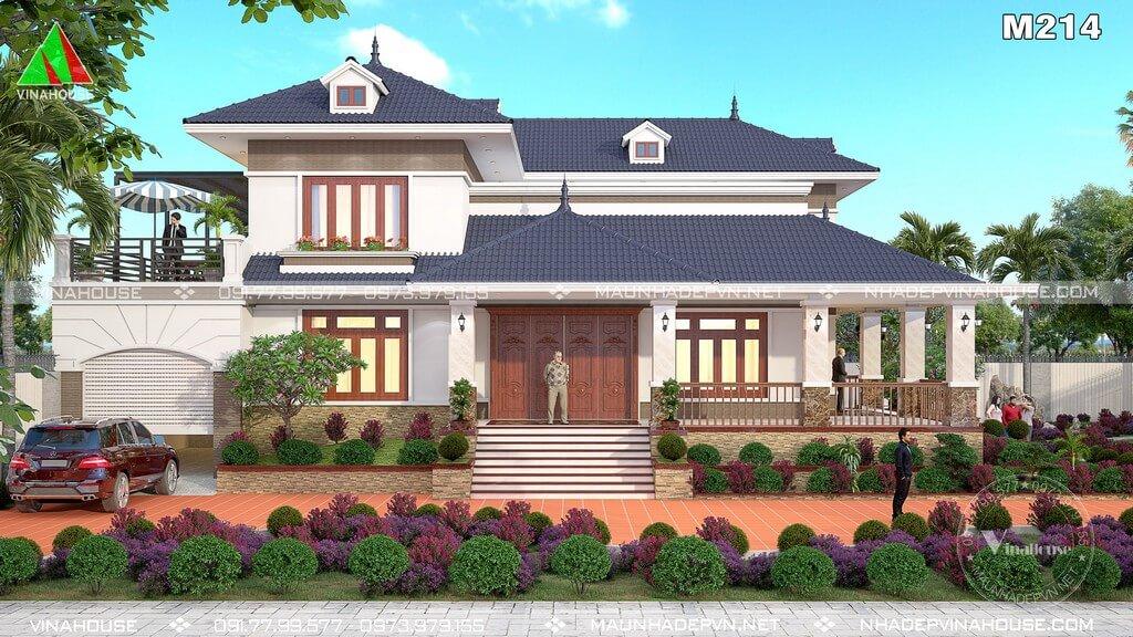 Mẫu biệt thự vườn 2 tầng đẹp bác Bảy ở Phú Yên