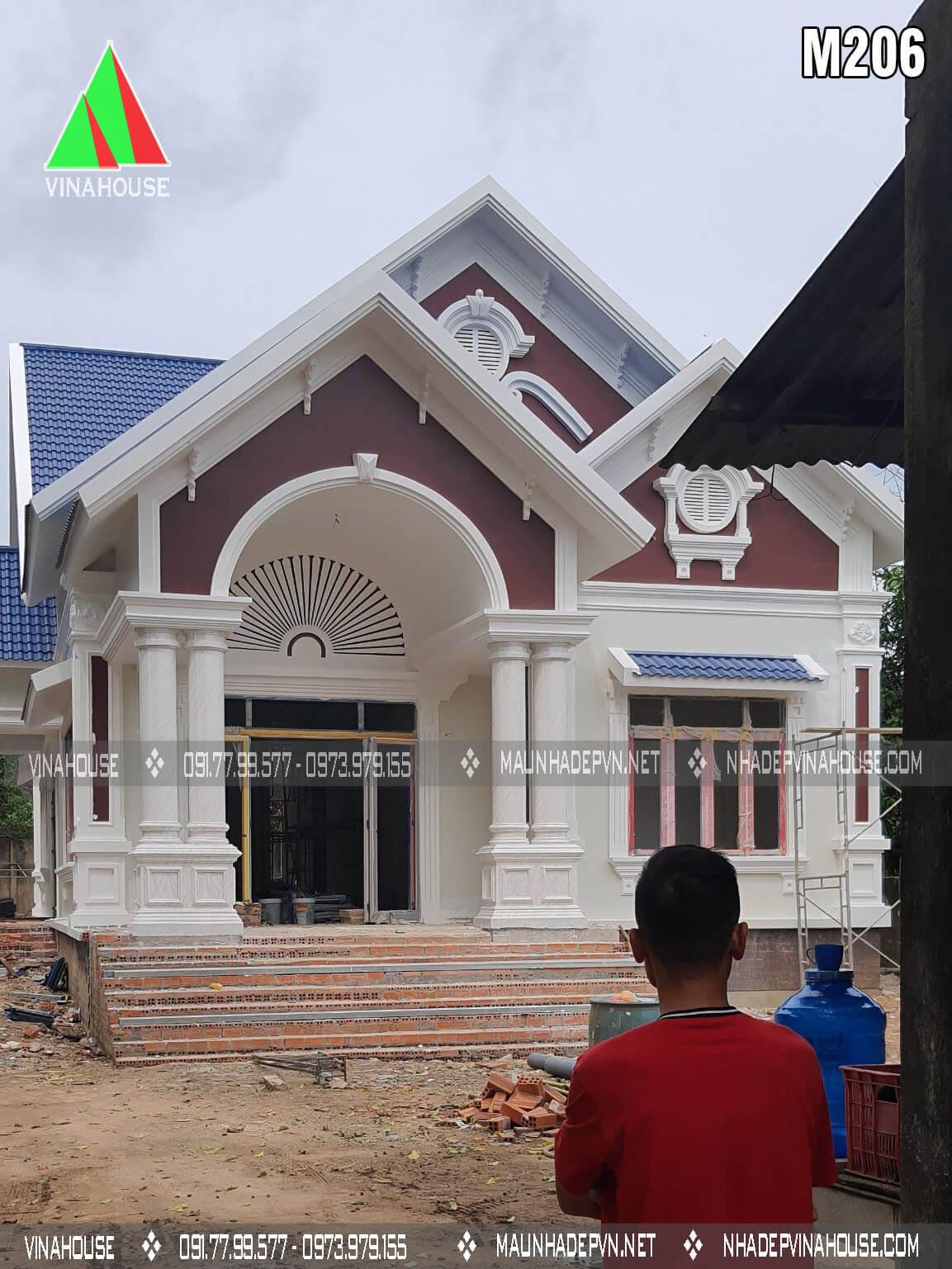Hình thi công nhà a Dân ở Định Quán M206