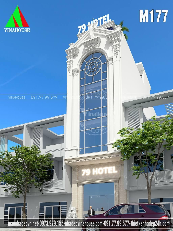 Khách sạn mini 5 tầng 5x20 ở Bình Dương