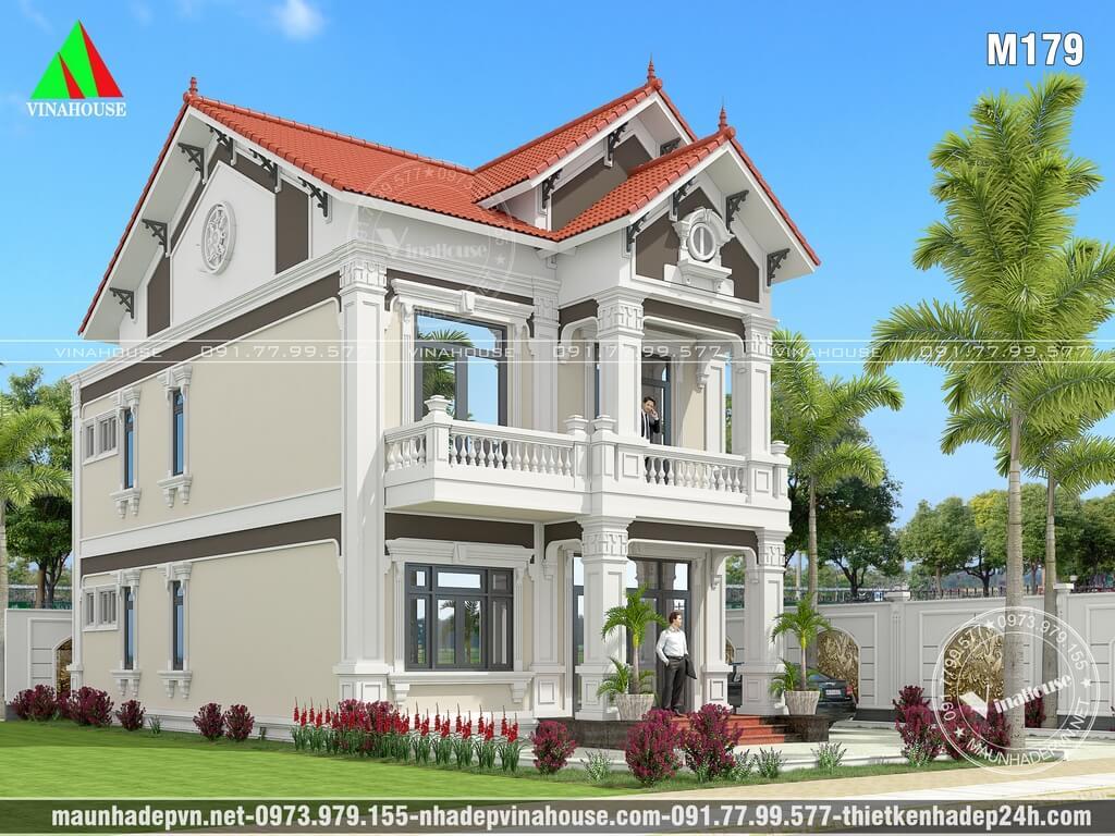 Thiết kế Biệt thự cổ điển đẹp 8x13