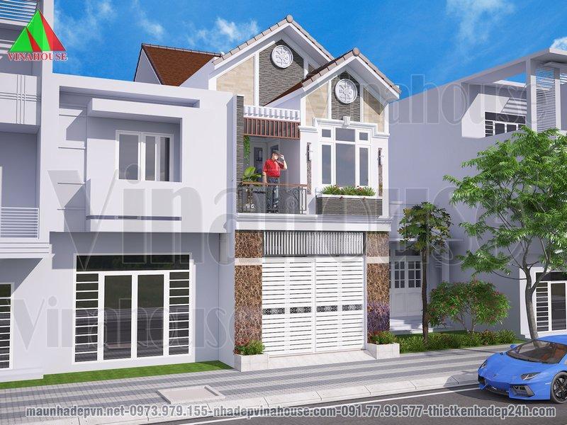 Nhà phố 2 tầng mặt tiền đẹp 5x19