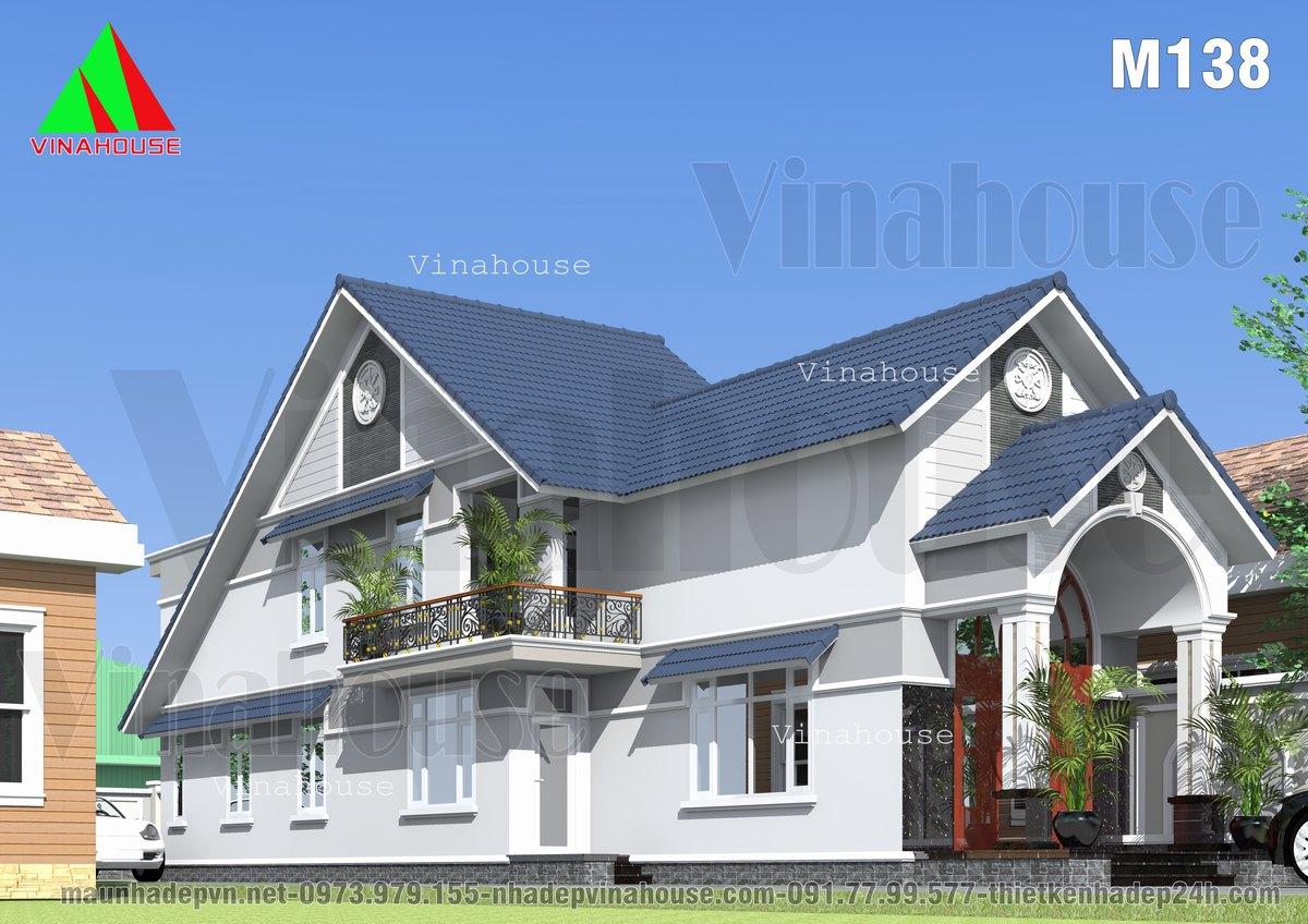 Nhà cấp 4 có gác lửng mái thái 5 phòng ngủ 6x23 ở Đồng Nai