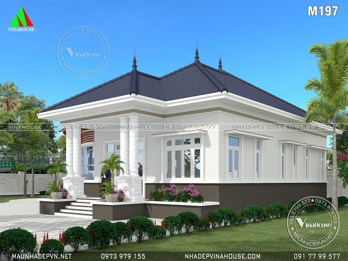Nhà vườn mái thái 1 tầng