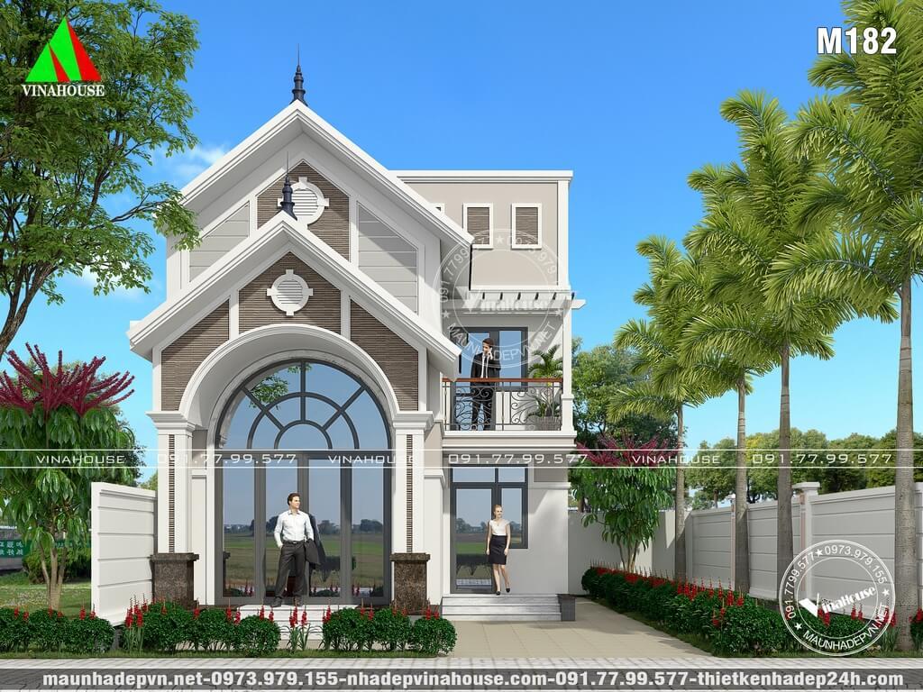 Nhà lửng mặt tiền mái thái đẹp