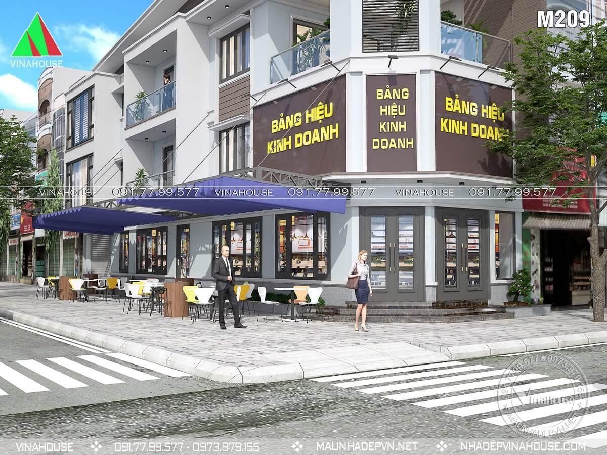Nhà phố lô góc 2 mặt tiền kinh doanh 3 tầng