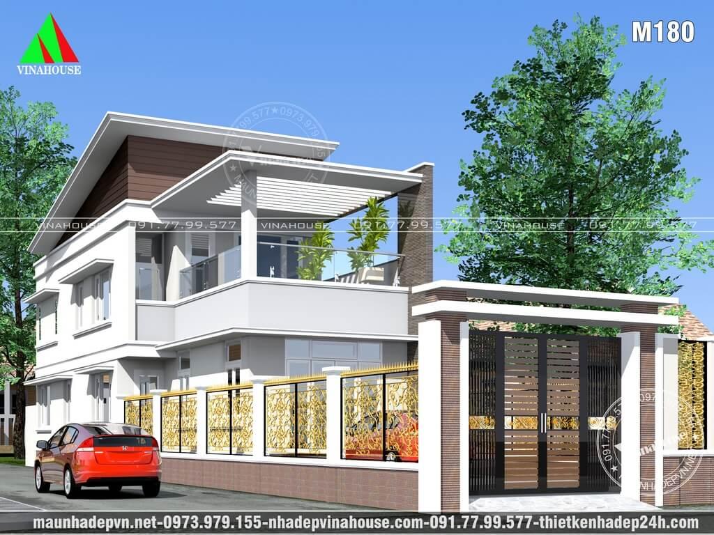 Nhà lửng 2 mặt tiền đẹp có sân thượng 6x19