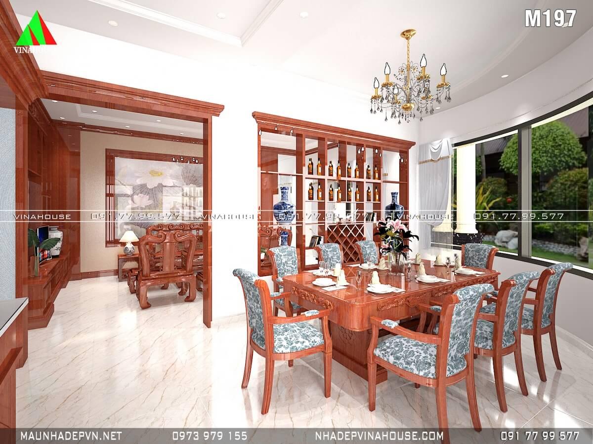 Phòng ăn nhìn qua phòng khách