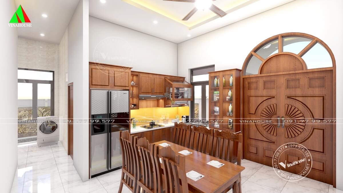 Phòng bếp ăn nhà cấp 4 hiện đại