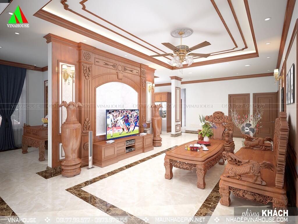 Phòng khách sang trọng đẹp