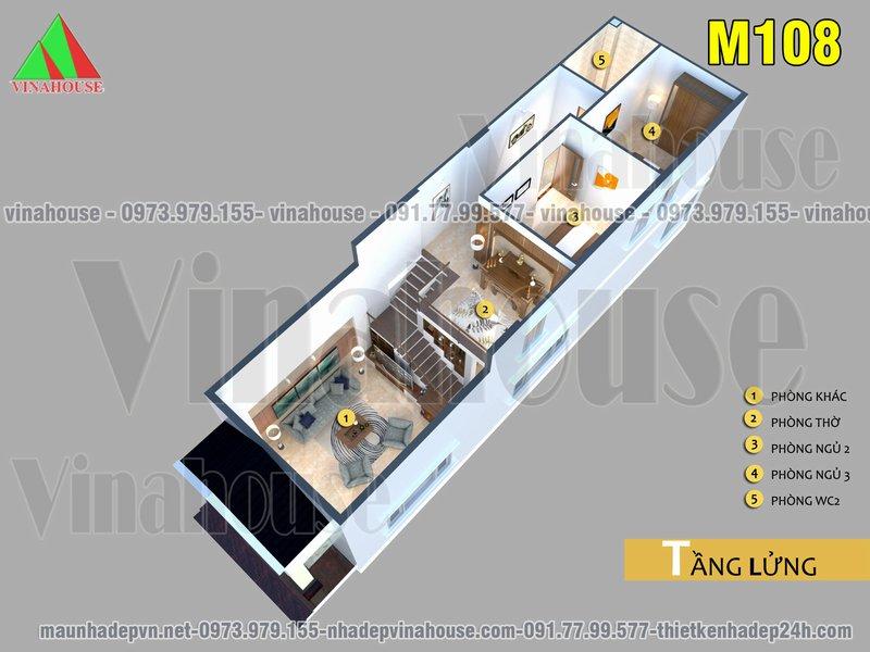 tang lung 1 - Nhà cấp 4 có gác lửng 5×19 mặt tiền mái thái 3 phòng ngủ 700 triệu