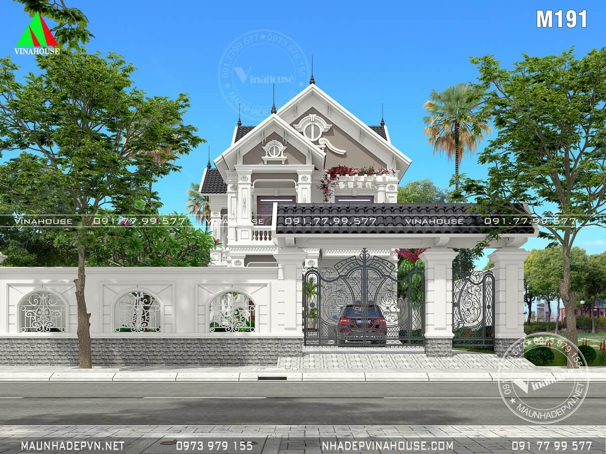 Sân cổng hàng rào biệt thự đẹp