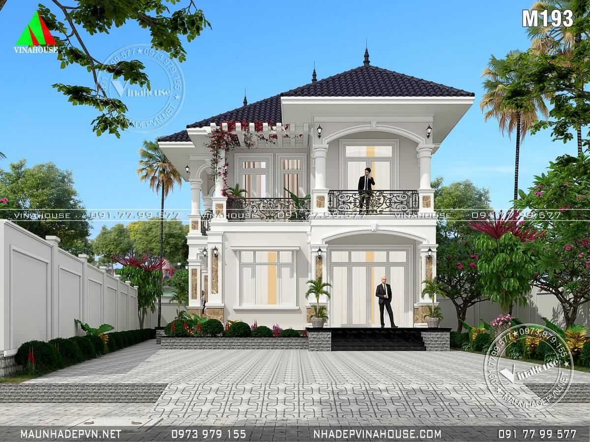 Biệt thự 2 tầng mái thái đẹp ở Củ Chi