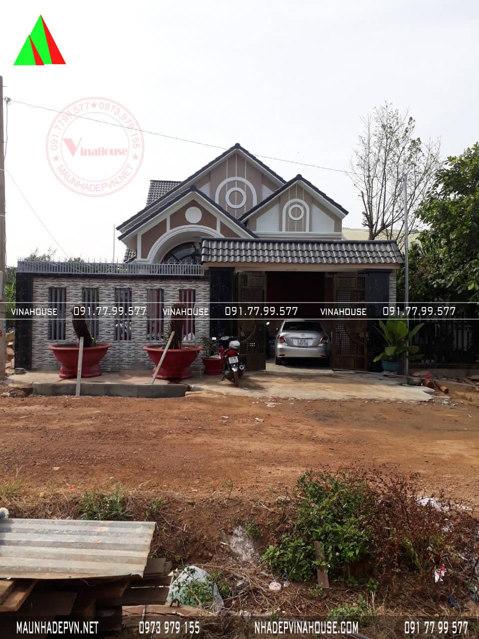 Ảnh thực tế nhà cấp 4 mái thái đã thi công ở Bình Phước