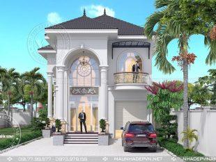 Thiết kế biệt thự 2 tầng đẹp ở Bà Rịa M233
