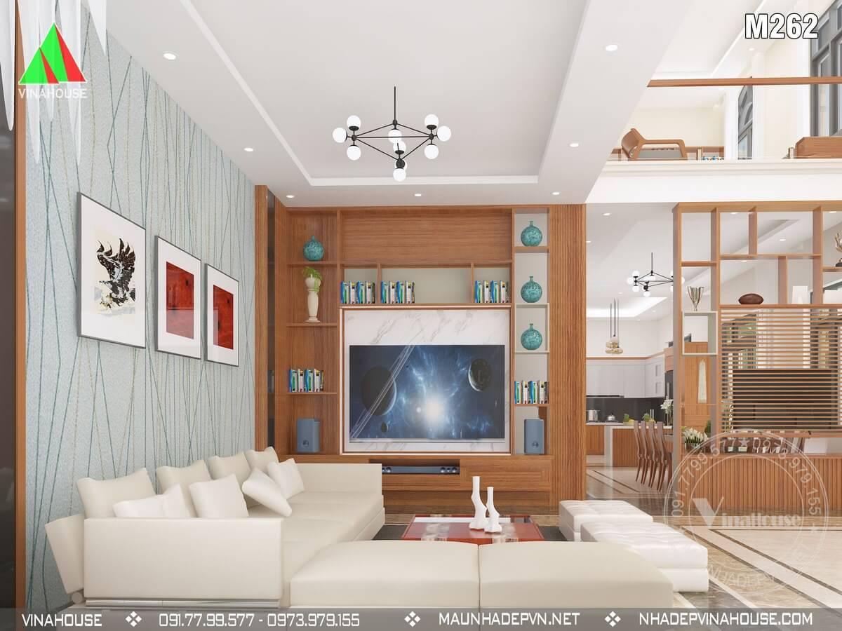 Mẫu biệt thự 2 tầng đẹp mặt tiền 7,5m anh Dũng ở Đồng Nai M262