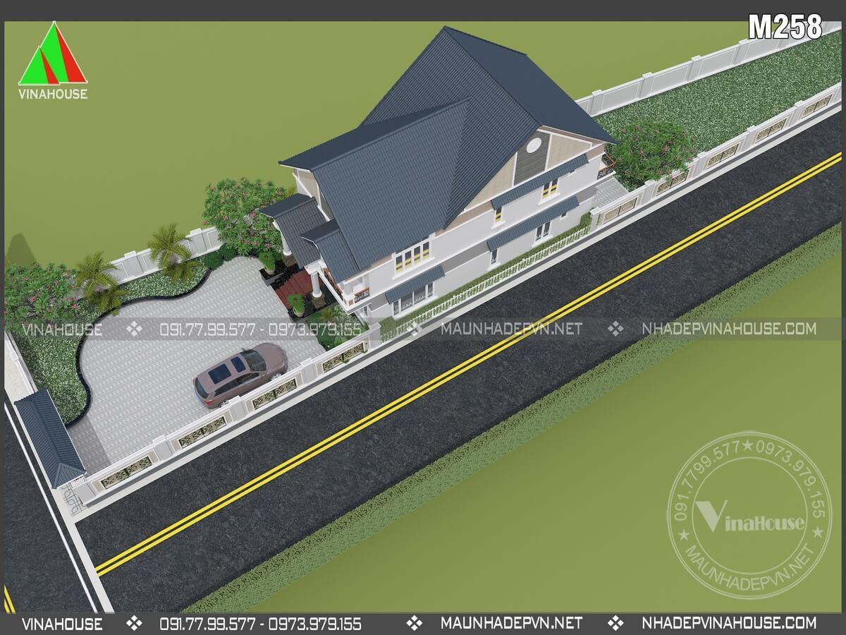 Thiết kế biệt thự 2 tầng hiện đại M258