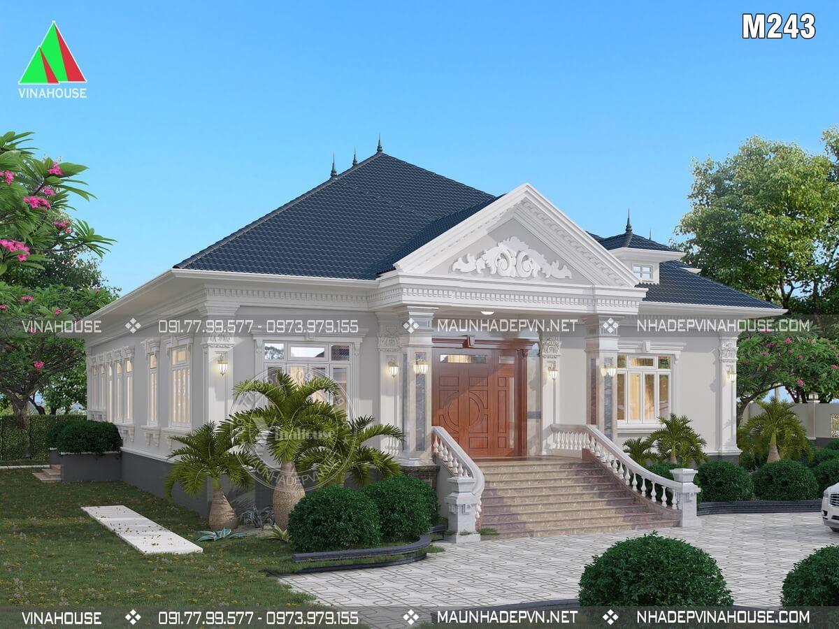 Biệt thự nhà vườn 1 tầng tân cổ điển a Sang ở Bà Rịa M243