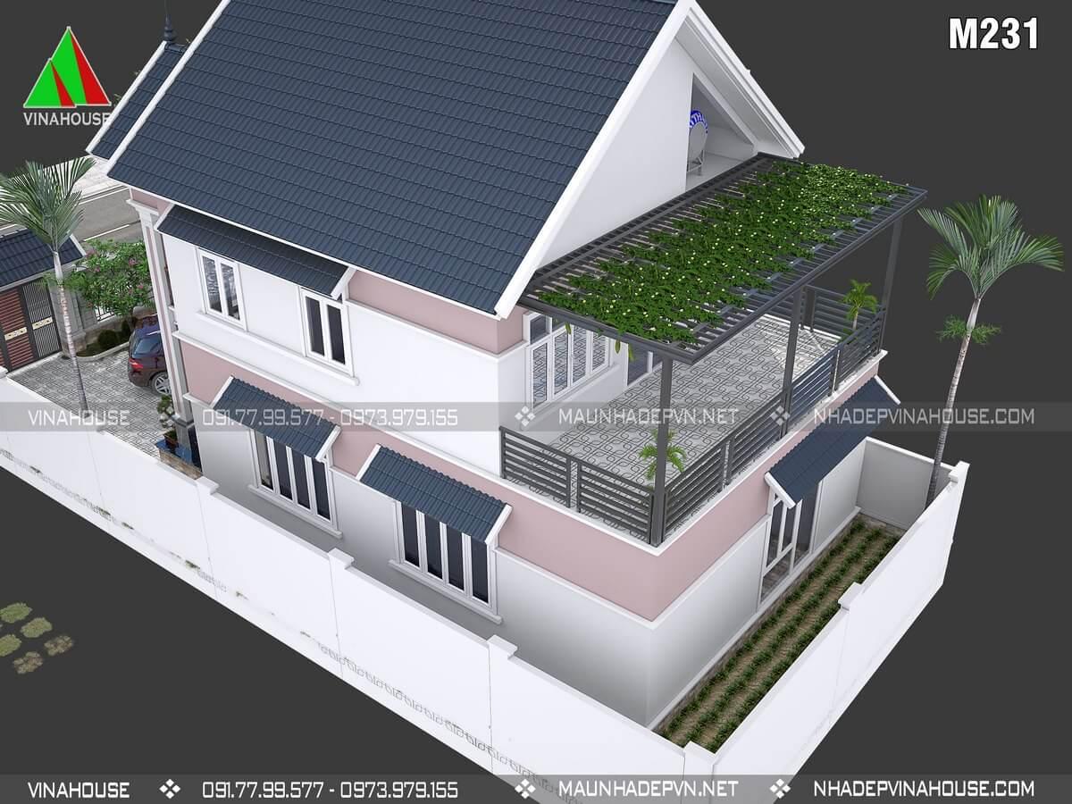 Thiết kế nhà 2 tầngM231