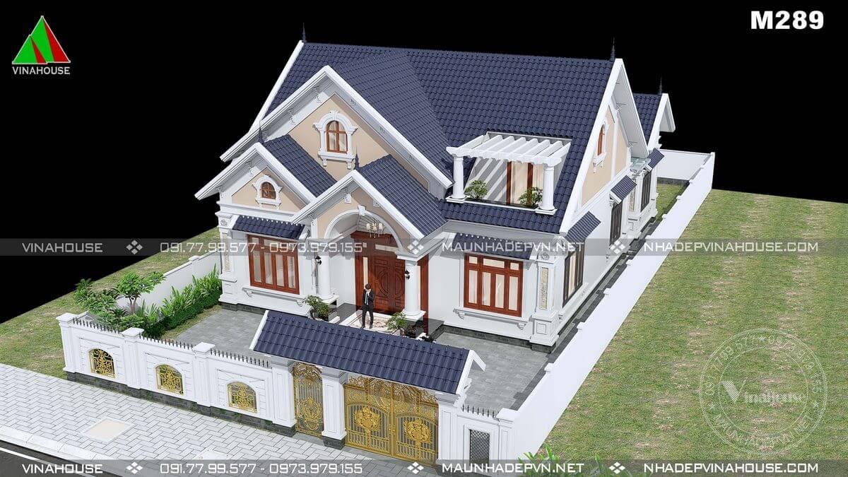 Thiết kế nhà cấp 4 có tầng áp mái tiết kiệm chi phí
