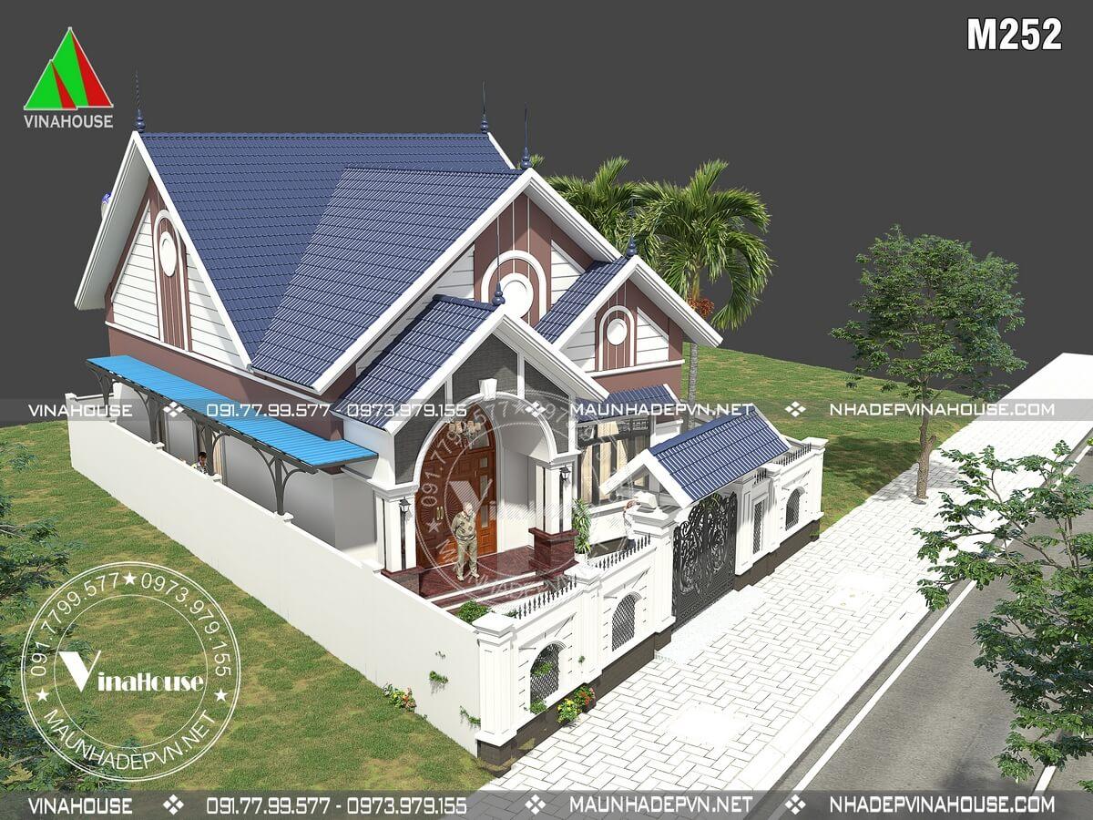 Thiết kế nhà cấp 4 đẹp hiện đại