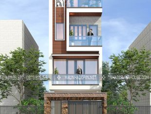 Thiết kế nhà phố 3 tầng 1 tum