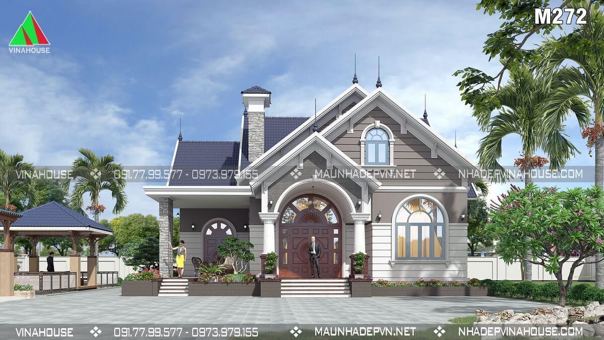 Thiết kế nhà 1 tầng 4 phòng ngủ ở Vĩnh Long