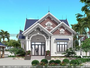 Thiết kế nhà cấp 4 mái thái đẹp M268