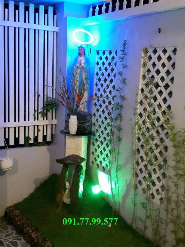 tieu canh chua jesu - Tư vấn thiết kế nhà cấp 4 có gác lửng đẹp 5×17 giá rẻ 400 triệu