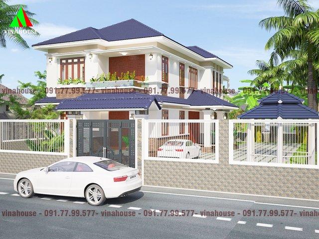 Mẫu biệt thự đẹp 2 tầng hiện đại anh Hải ở Đồng Nai M19